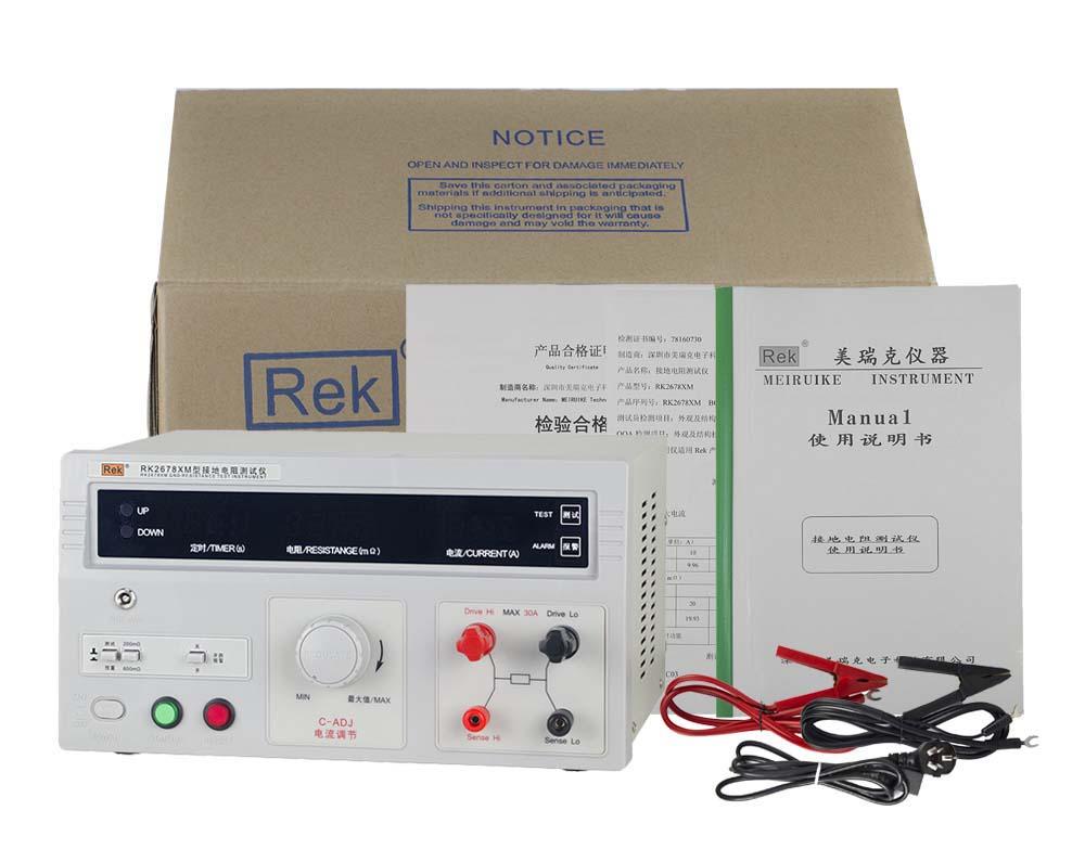 bộ sản phẩm máy đo điện trở nối đất RK2678XM