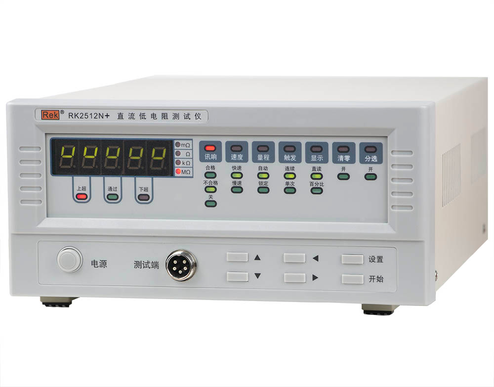 Mặt nghiêng máy đo điện trở thấp DC RK2512N+