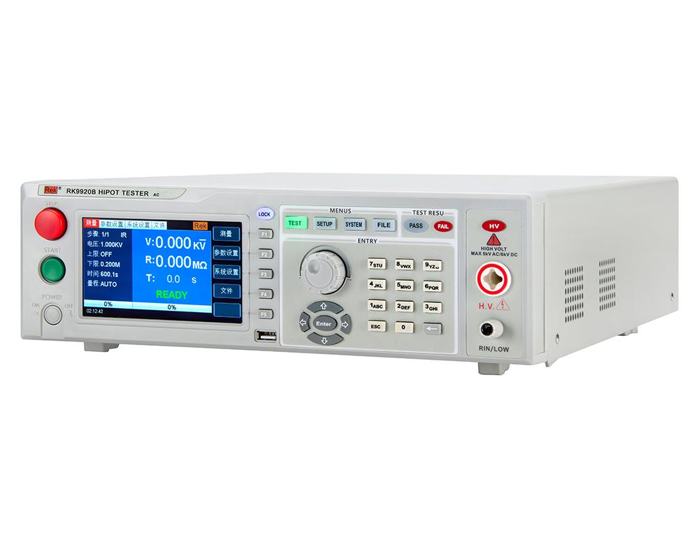 Mặt nghiêng máy đo điện trở RK9220B