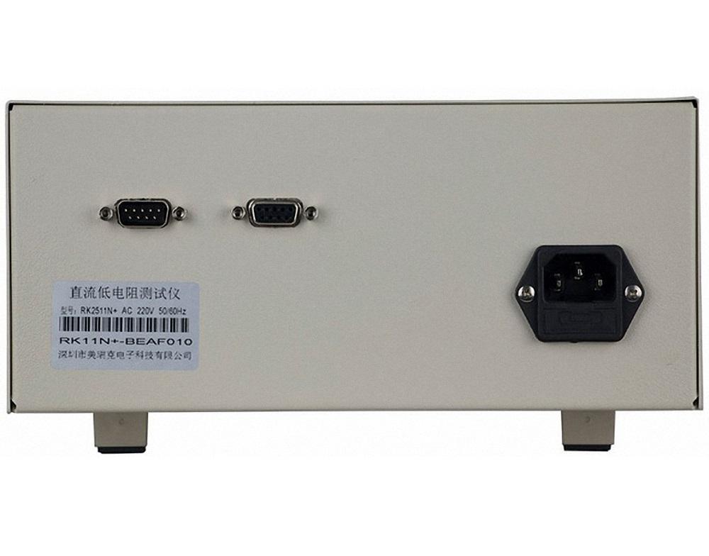 Mạt sau bản nâng cấp máy đo điện trở thấp DC model RK2511N+