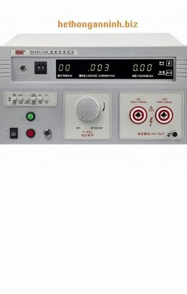 Mặt trước máy đo dòng rò RK2671CM