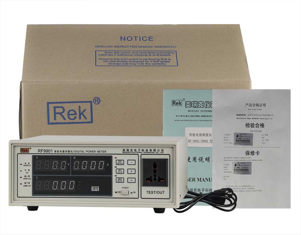 Bộ sản phẩm đồng hồ đo điện thông minh RF9901