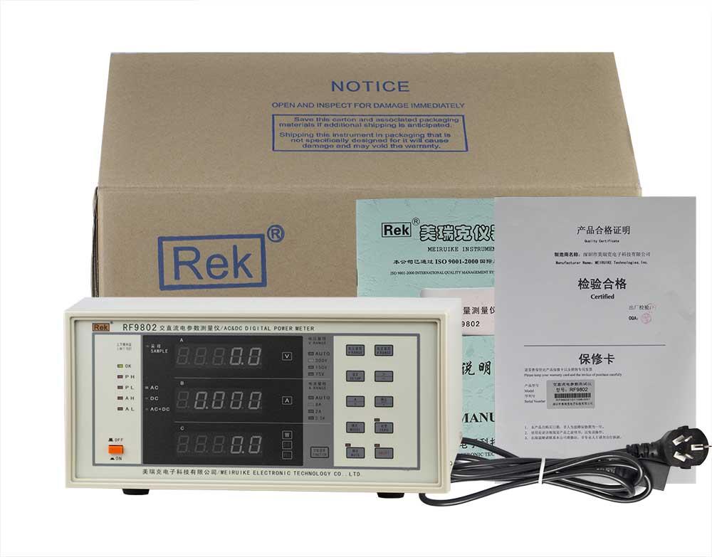 Bộ sản phẩm đồng hồ đo điện thông minh RF9802