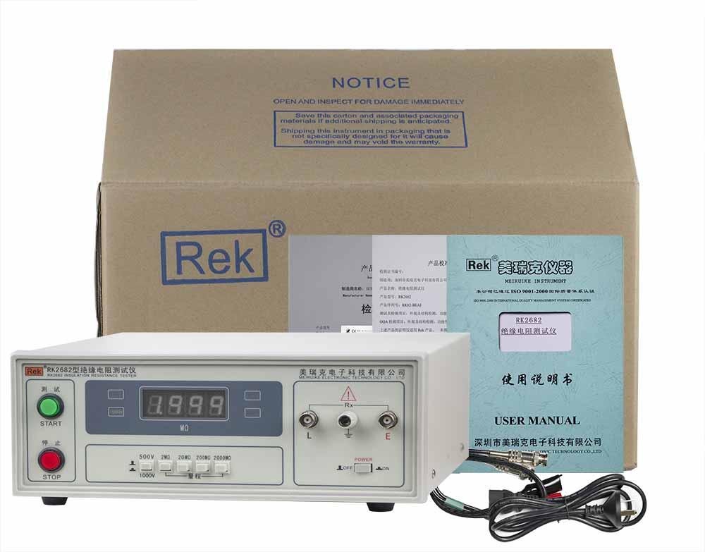 bộ sản phẩm máy đo điện trở cách điện RK2682