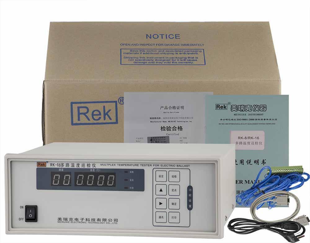 Bộ sản phẩm máy đo nhiệt độ đa kênh RK-16