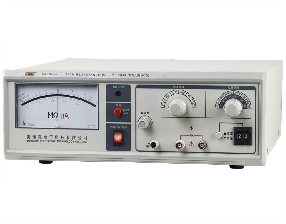 mặt nghiêng máy đo điện trở cách điện RK2681A