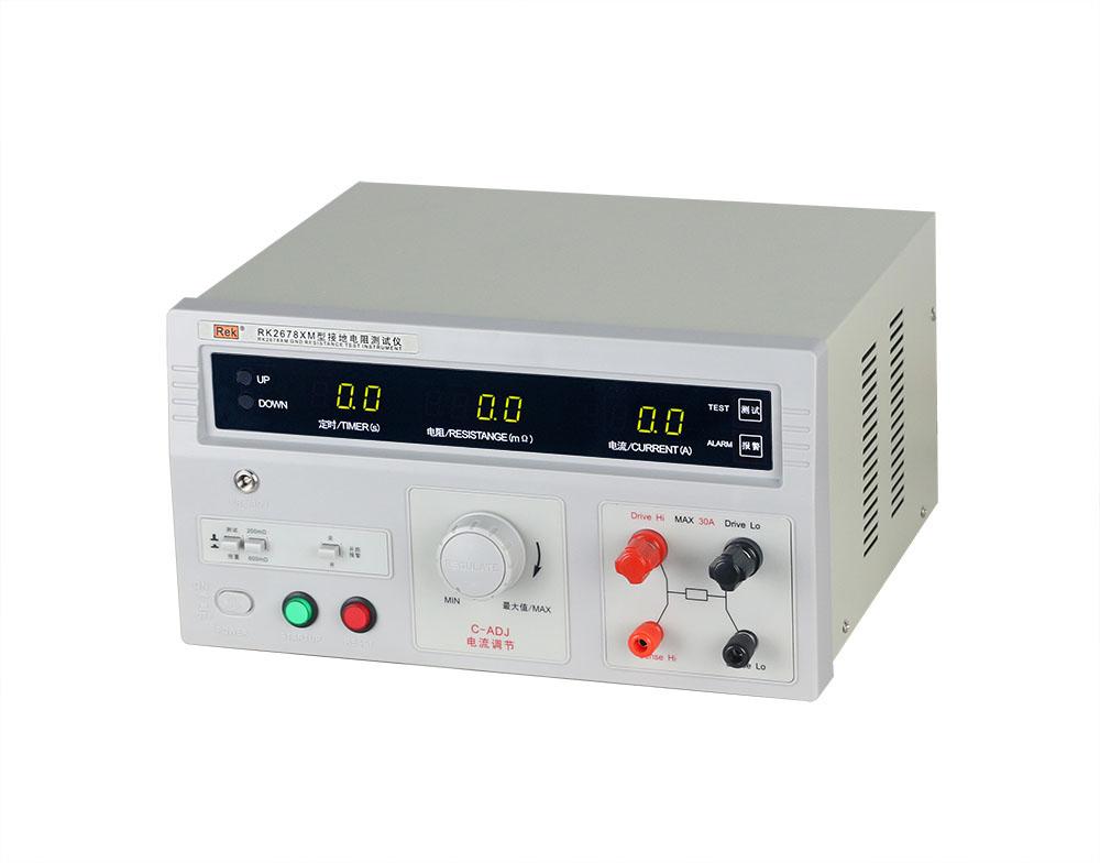 mặt nghiêng máy đo điện trở nối đất RK2678XM