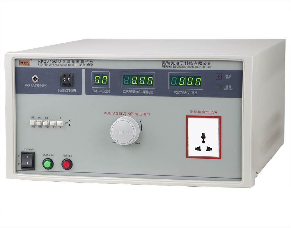mặt nghiêng máy đo dòng rò dây dẫn RK2675C