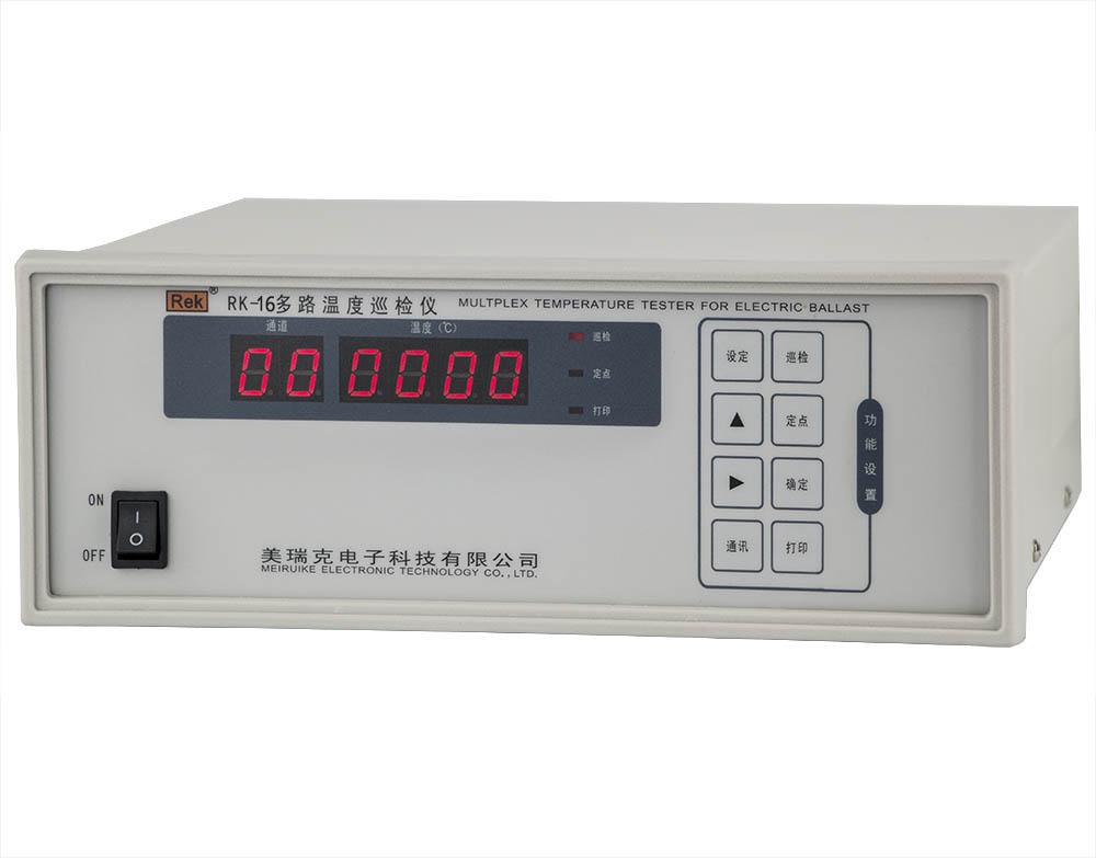mặt nghiêng máy đo nhiệt độ đa kênh RK-16