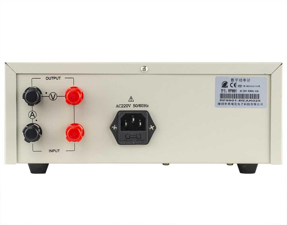 mặt sau đồng hồ đo điện thông minh RF9901