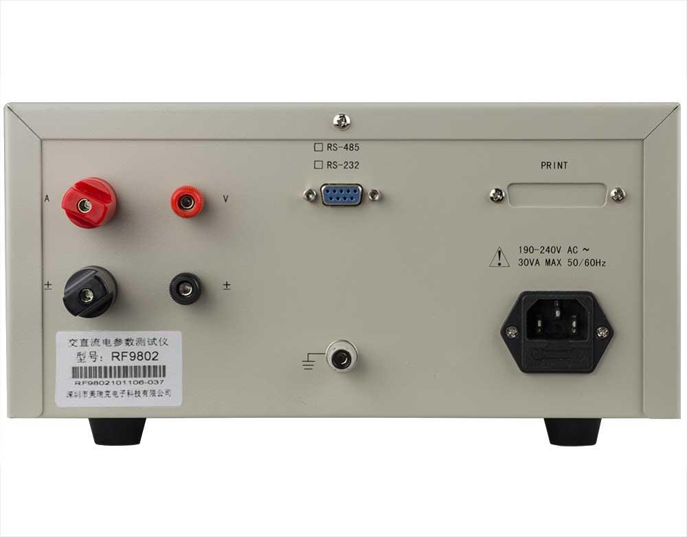 Mặt sau đồng hồ đo điện thông minh RF9802