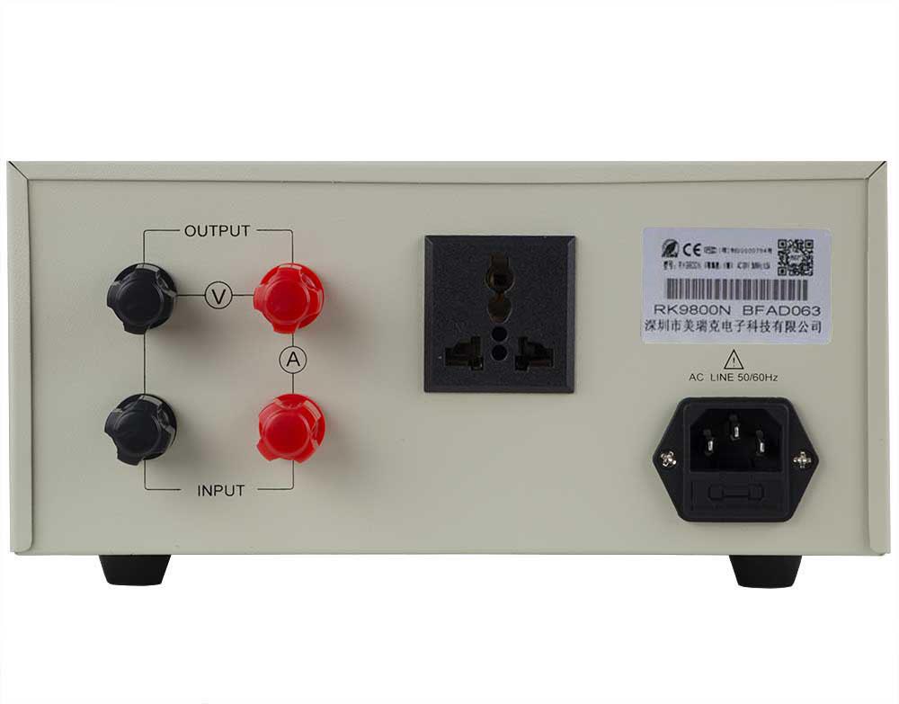 Mặt sau đồng hồ đo thông minh RK9800N