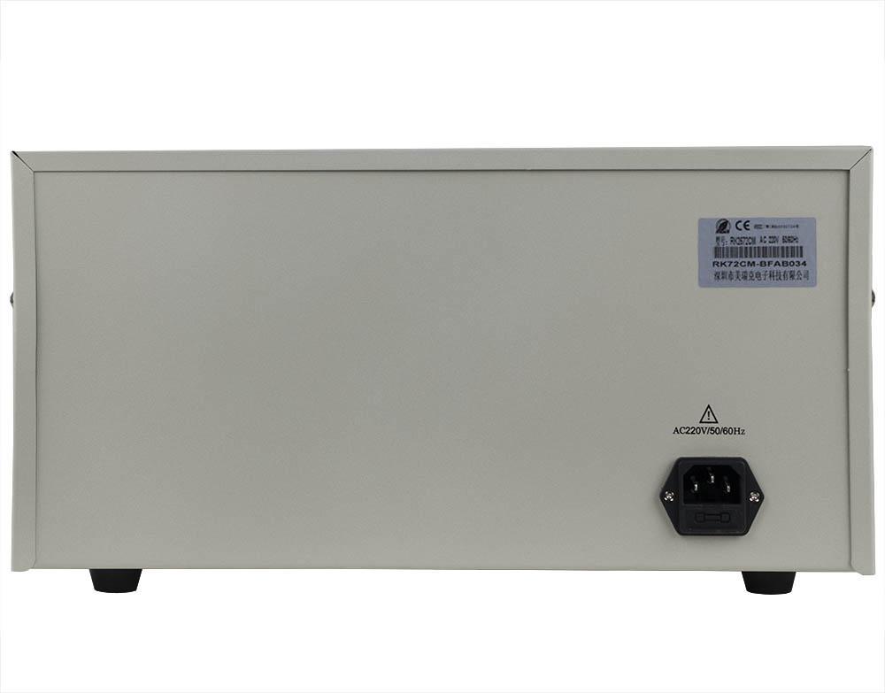 mặt sau máy đo dòng rò RK2672CM