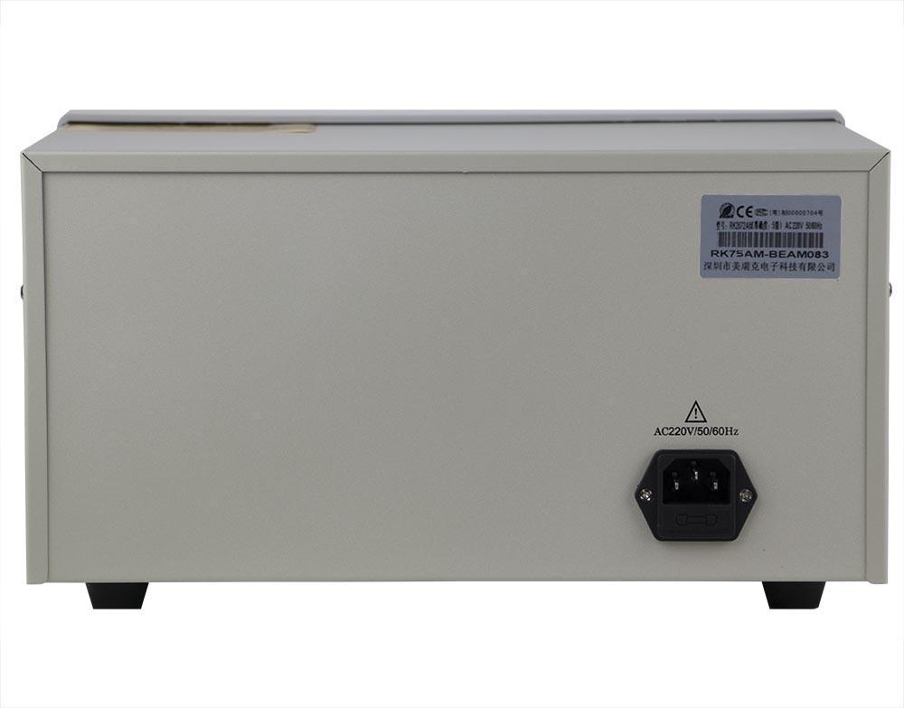 mặt sau máy đo dòng rò dây dẫn RK2675AM