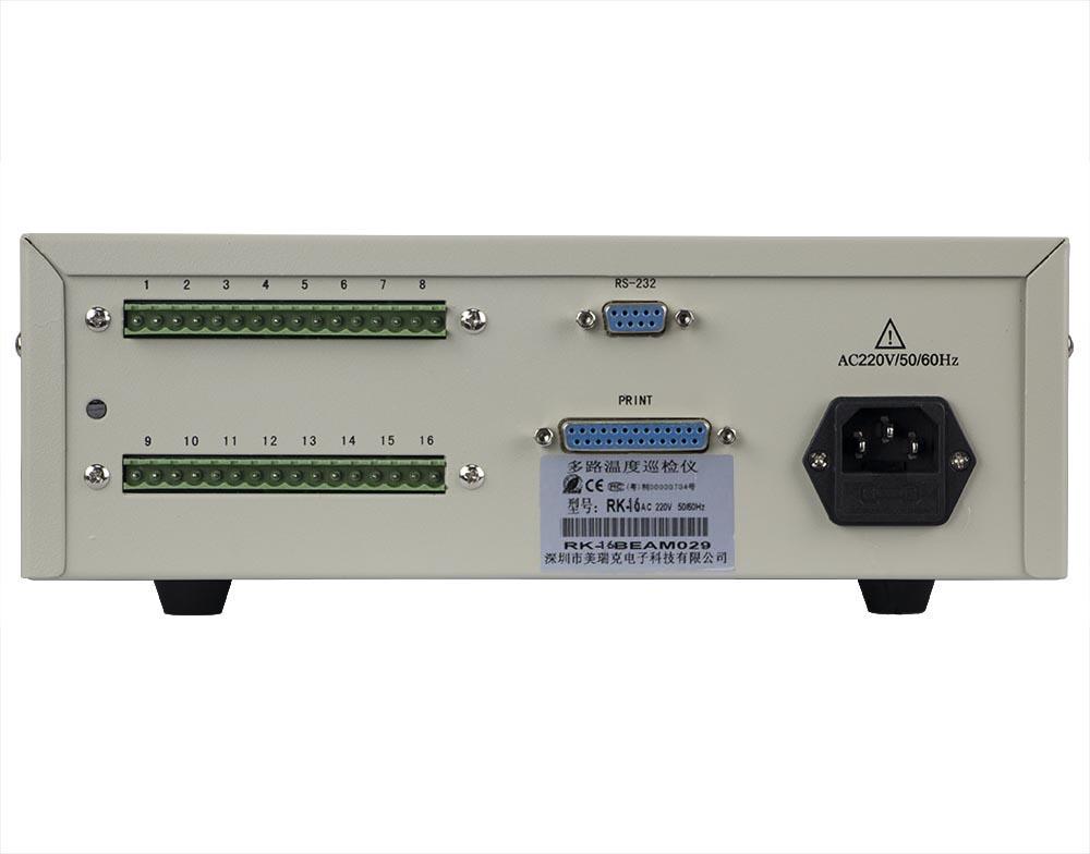 mặt sau máy đo nhiệt độ đa kênh RK-16