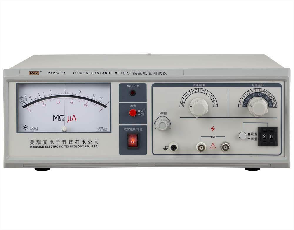 mặt trước máy đo điện trở cách điện RK2681A