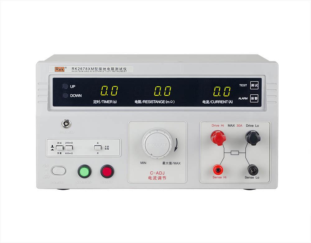 mặt trước máy đo điện trở nối đất RK2678XM