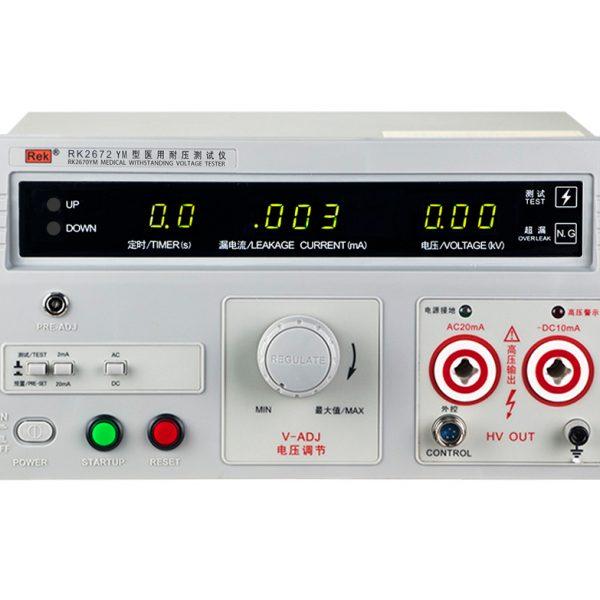 Mặt trước máy đo an toàn cho các thiết bị y tế RK2672YM
