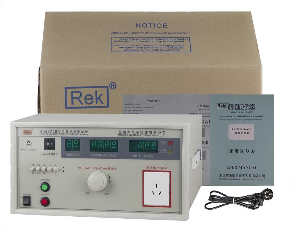 Bộ sản phẩm máy đo dòng rò RK2675B