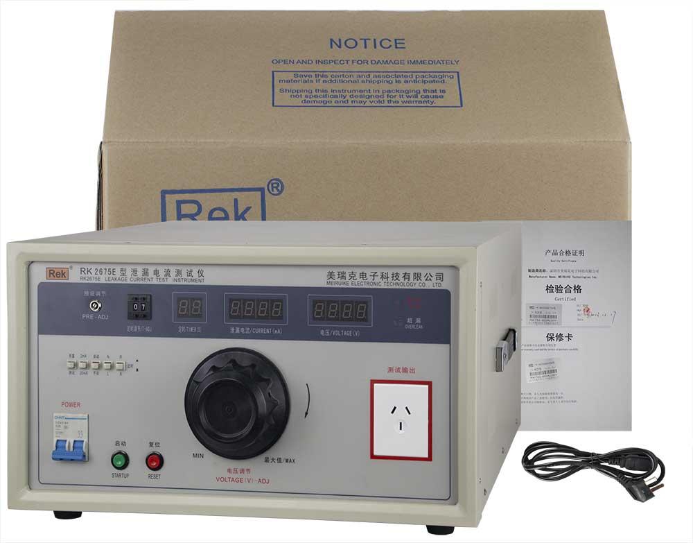 Bộ sản phẩm máy đo dòng rò RK2675E
