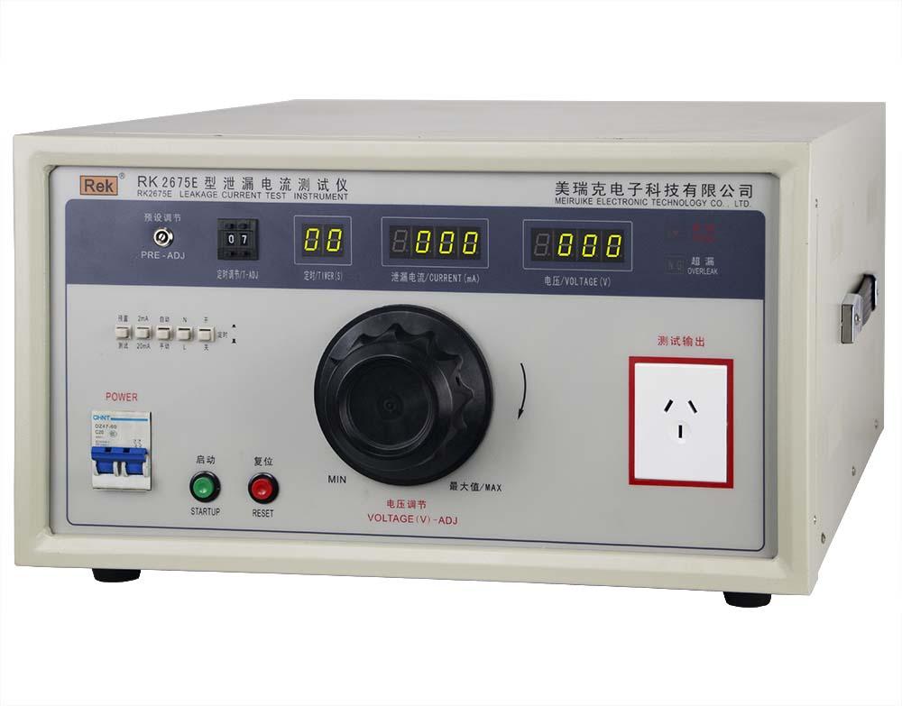 Mặt nghiêng máy đo dòng rò RK2675E