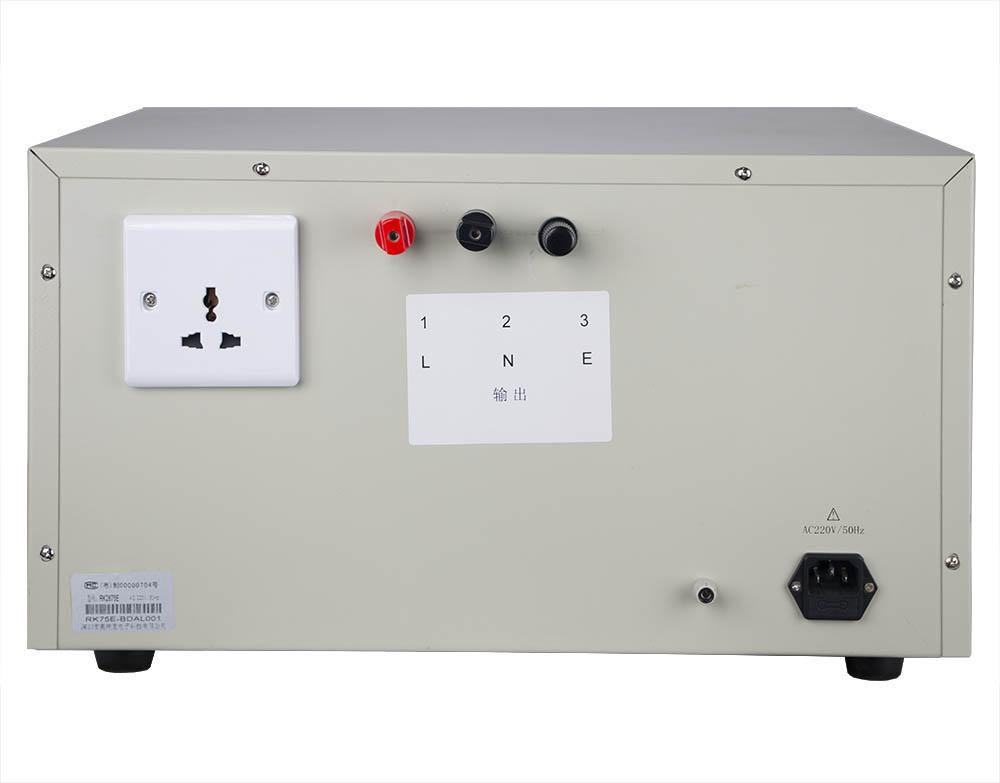 Mặt sau máy đo dòng rò RK2675E